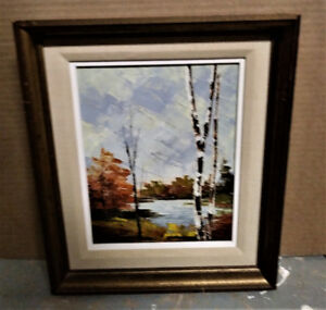 PAINTING - Nice Vintage R. KORON Water Landscape Oil Painting