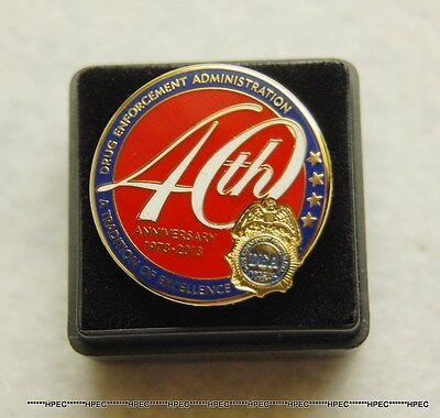 NEW US DEA  40th ANNIVERSARY Pin Federal Agent Police Badge Secret Service FBI