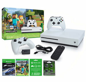 BRAND NEW XBOX ONE S MINECRAFT MEGA BUNDLE 2 CTRLS LIVE