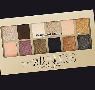 Maybelline THE 24K NUDES Eyeshadow Palette 13 Looks in 1 ~ DELIGHTFUL BEAUTY