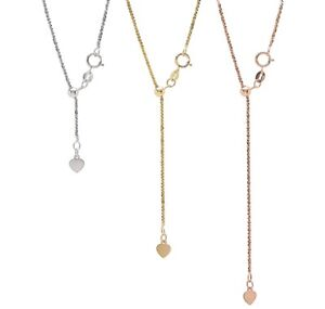 """Stefano Oro 14K Gold Bella Margherita Adjustable Chain up to 22"""""""