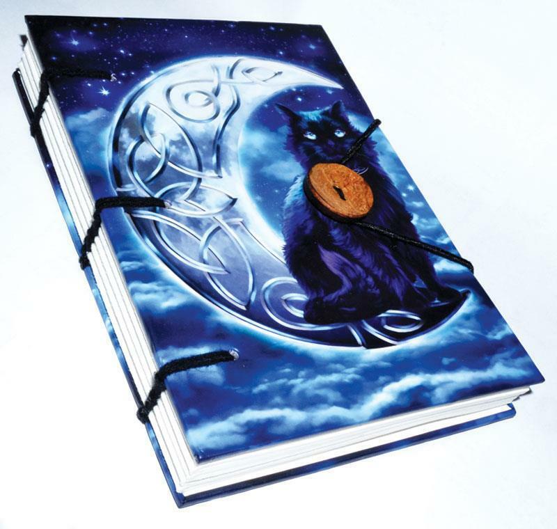 Celtic Moon Black Cat Book of Shadows, Journal!