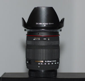 Sigma 18-200mm Zoom Lens for Pentax