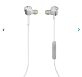 SPORT ROX WIRELESS BLUETOOTH STEREO EARBUDS HEADPHONES IN WHITE