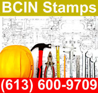 Building Permit Approval & BCIN Stamps