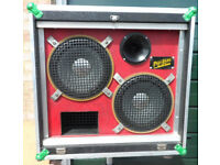 Disco Speakers -1 Pair PRO-ENTS SPEAKER SYSTEM - FULL RANGE