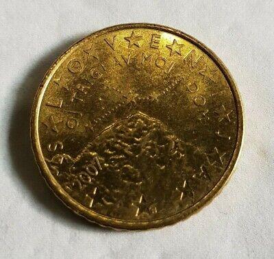 Pièce de 50 cent centimes € 0,5 euros € - slovénie 2007