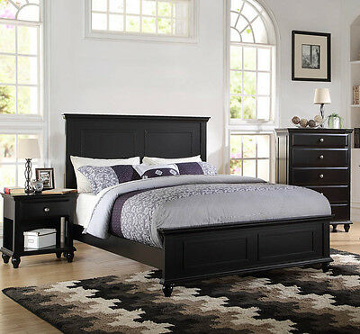 King Size Wood Finish Bed - NEW