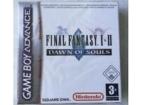 Final fantasy I II dawn of souls Nintendo Gameboy advance game new sealed