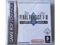 Final fantasy I II dawn of souls Nintendo Gameboy advance brand new sealed game