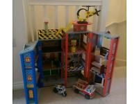 Toy fire station police station ( kidkraft everyday heroes wooden playset ) dolls house