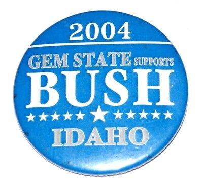 2004 GEORGE W. BUSH campaign pin pinback button political presidential IDAHO