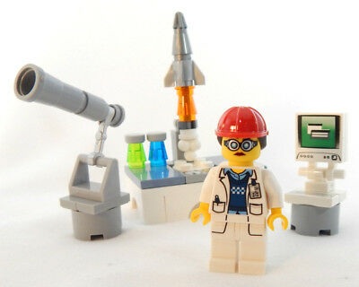 NEW LEGO ROCKET SCIENTIST SET minifig 21312 science telescope nasa stem female
