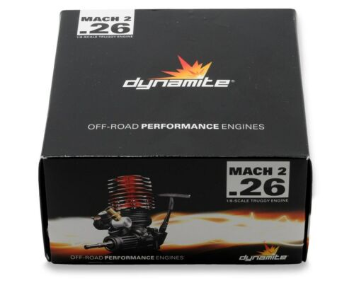 """Dynamite Mach 2 """"Truggy"""" .26 With Pull Spin Start Combo Nitro RC Engine DYN0990"""