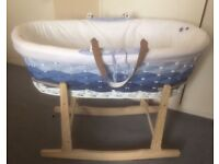 MotherCare Ombré Moses Basket And Rocking Stand