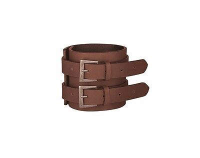 GENUINE INDIAN MOTORCYCLE BROWN LEATHER BUCKLE CUFF 2863945