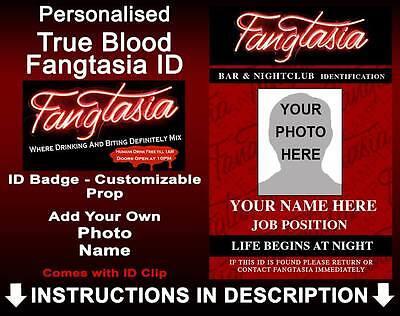 True Blood Fangtasia Personalised Custom Cosplay Prop Costume ComicCon Halloween