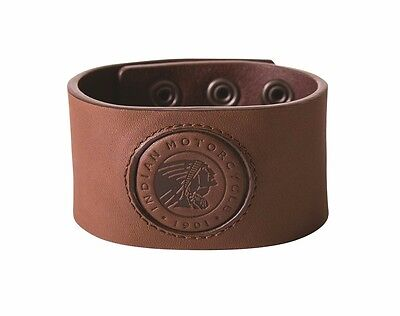 GENUINE INDIAN MOTORCYCLE BROWN LEATHER SNAP CUFF 2863944