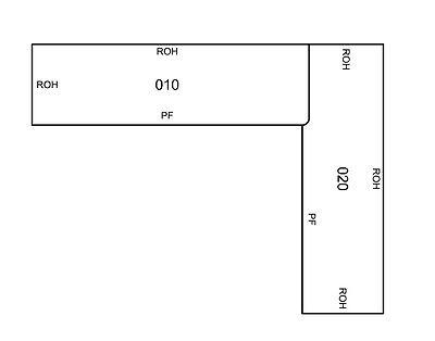 Arbeitsplatte Getalit Küche Ikea L-Form Dekor FC 440 gebraucht kaufen  Oberhausen
