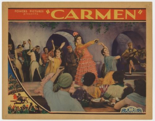 CARMEN original film / movie poster (lobby card) - Bizet  - very rare.