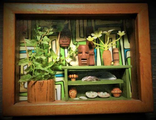 Tiki Polynesian Hawaiian Themed Mini Diorama Art!
