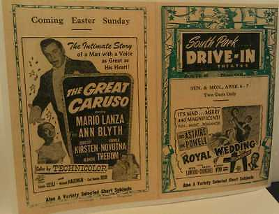 c1950s South Park Drive-In Movie Theatre Route 88 Near Pittsburgh Poster