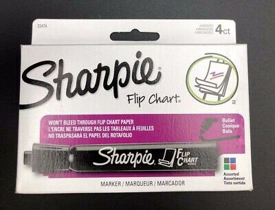 Sharpie Flip Chart Markers Bullet Tip Four Color Set New