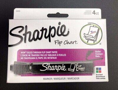 Sharpie Flip Chart Markers Bullet Tip Four Color Set New