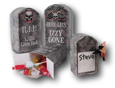 Set of 3 Tombstone Favor Boxes for Halloween Favors and Halloween Party - Cardboard Tombstones Halloween