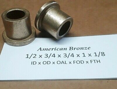 2pc 12 X 34 X 34 Bronze Flange Bushing American Bronze - Made In Usa