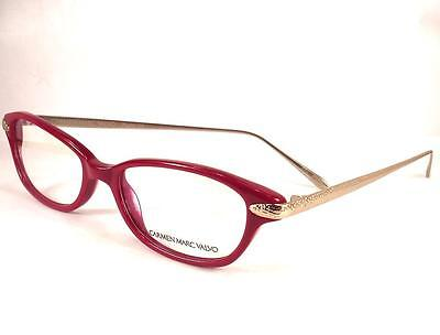 Plastic Sangria Glasses (Carmen Marc Valvo Stella Sangria Red Eyeglasses 51-17-137 Plastic Frames)