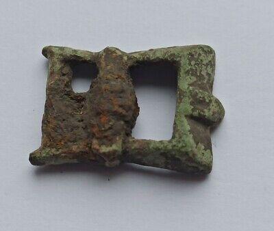 ANCIENT ROMAN BRONZE BUCKLE BRITISH FIND 300-420 AD