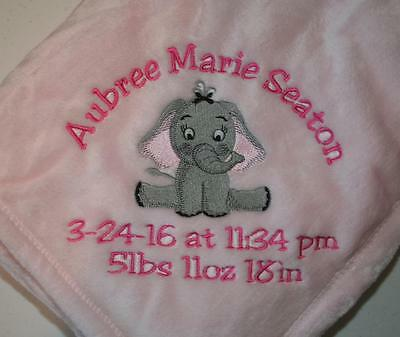 Personalized Monogrammed Baby Blanket Soft Tahoe Fleece Several Boy or Girl](Personalized Baby Stuff)