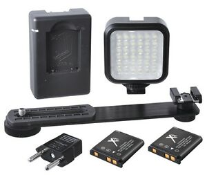 Bright-LED-Light-Kit-With-2-Battery-Charger-for-Nikon-D3100-D3000-D3500-D3200
