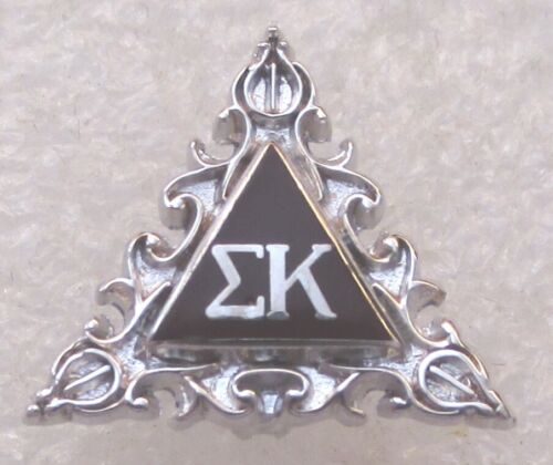 Sigma Kappa ΣΚ Sorority Badge Pin - Sterling Silver