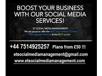 SOCIAL MEDIA 4 YOUR BUSINESS | START TODAY | NO CONTRACT | ET SOCIAL MEDIA MANAGEMENT