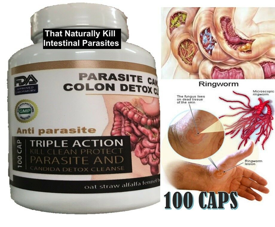 Parasite Cleanse DETOX Liver Colon Yeast Blood KILL Killer vital 100 cap cure XL