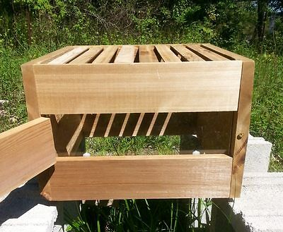 Warre Honey Bee Hive Box Cedar With Window And 8 Topbars A  Ka Farm Usa Wood