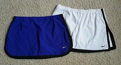 EUC Lot 2 Women's Nike Dri-Fit Tennis Running Skirt/Skort/Shorts SZ M
