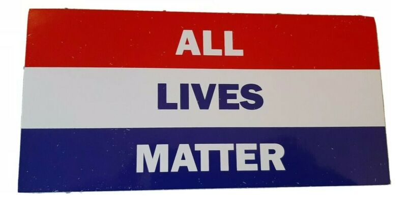 ALL LIVES MATTER RED WHITE AND BLUE BUMPER STICKER