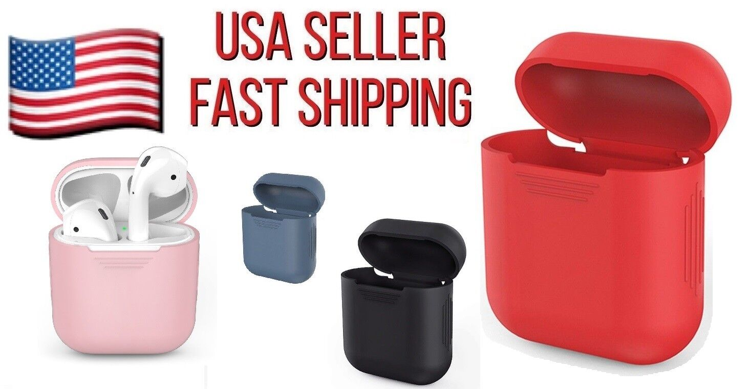 Silicone Skin Cover For Apple AirPods Charging Case SHOCKPROOF DURABLE Cases, Covers & Skins