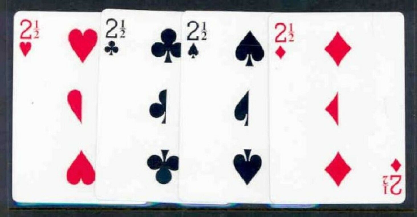 five  12  2 12 card  trick cards  bicycle red back