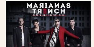 4 Tickets Marianas Trench..$60.00 a pair