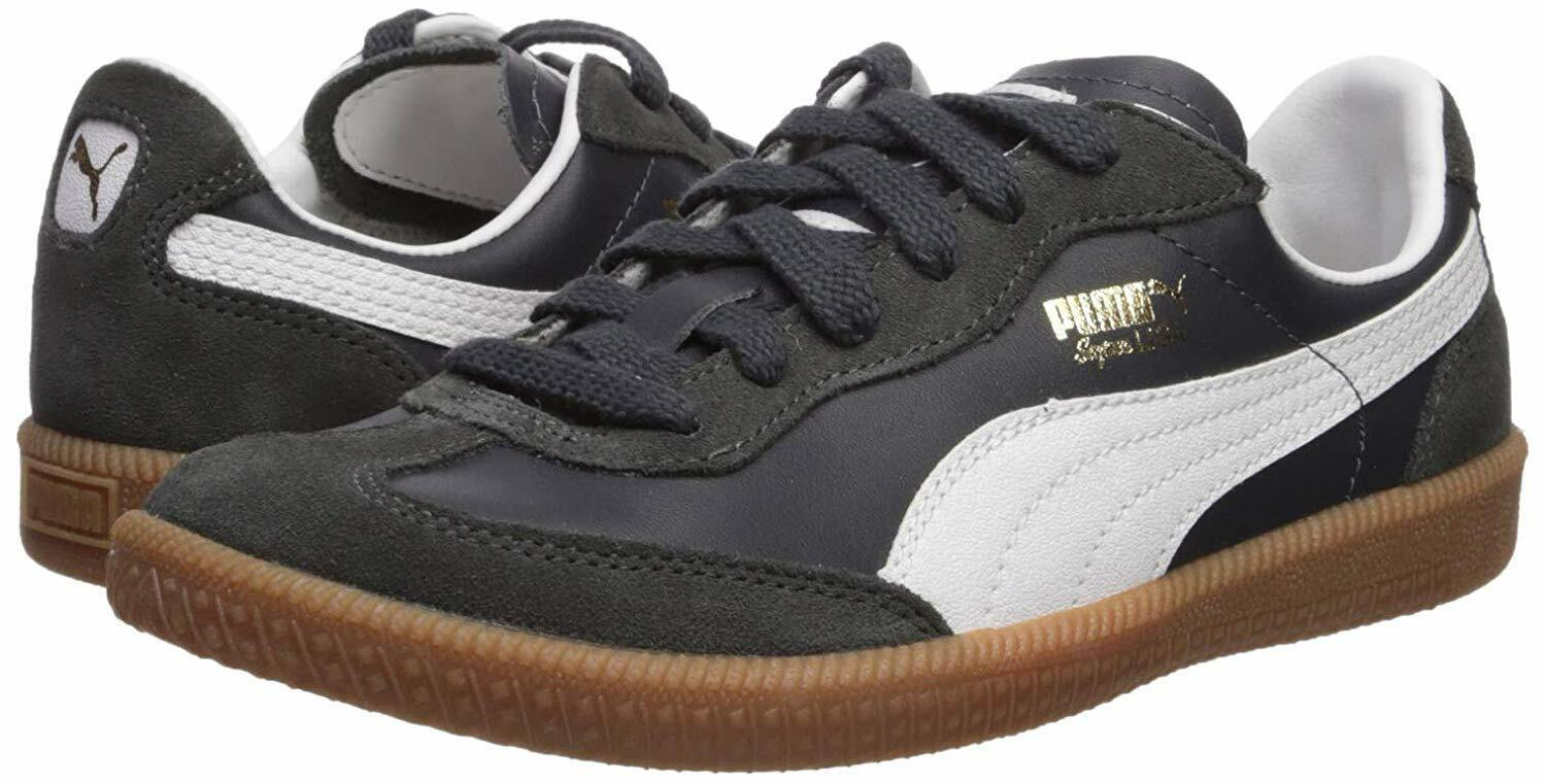Men's Shoes PUMA SUPER LIGA OG RETRO Leather Sneakers 356999-09 NEW NAVY / WHITE