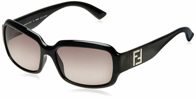 Fendi Fashion Black Plastic Frame Grey Gradient Lens Ladies Sunglasses FS5003001