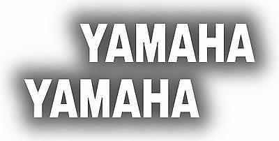 x2 80mm Yamaha Stickers (MOREin EBAY SHOP) Motorbike Decals White