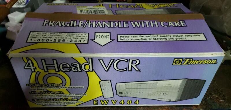 Emerson EWV404 VCR 4 Head 19 Micron Player Recorder New In Box open box
