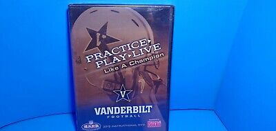 2012 Vanderbilt Football Instructional DVD Practice,Play,Live Like Champion NEW