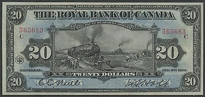 Canada  630 12 12  20 Royal Bank Of Canada 1913  Train  Note Xf Wlm3014