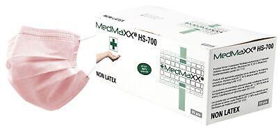 MedMaXX HS-700 3-lagige medizinische OP Maske Typ II rosa 50 Stück